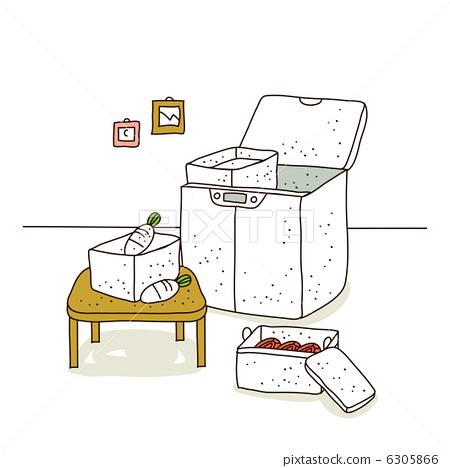 冰箱平面图手绘