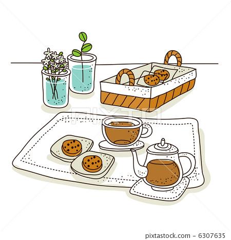 图库插图: 曲奇 饼干 食物
