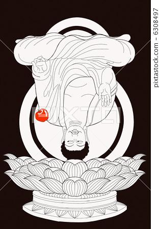 插图: 佛像 佛陀 炉香赞佛图片