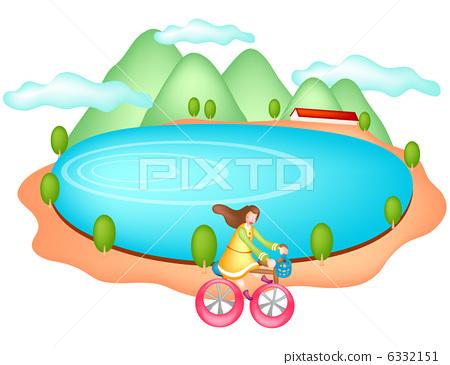 卡通圆形湖图片第4张