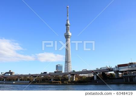 无线电塔 建筑 东京晴空塔