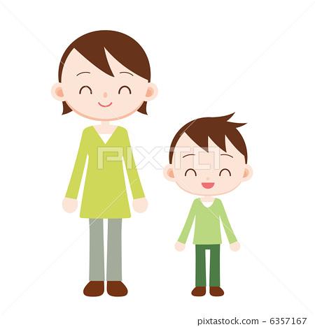 父母和小孩 妈妈 孩子_乐乐简笔画