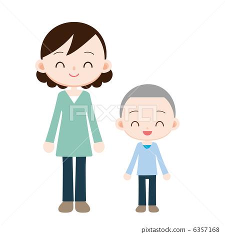 人物 女性 中年妇女 插图 父母和小孩 亲子 妈妈 首页 插图 人物 女性