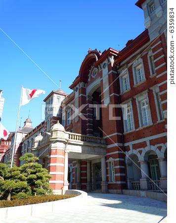 图库照片: 红砖建筑 车站大楼 东京站