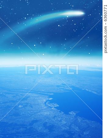 流星 首页 插图 植物_花 大波斯菊 彗星 外太空 流星  *pixta限定素材
