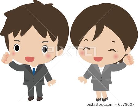 公司职员 雇员 商人-图库插图 [6378607] - pixta