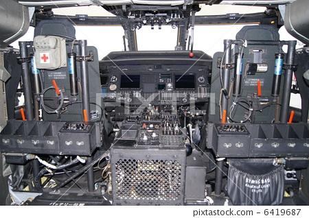直升飞机 直升机 驾驶舱
