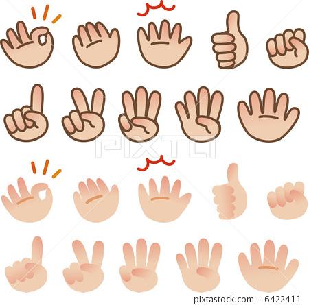 插图素材: 手语 手势语 握拳