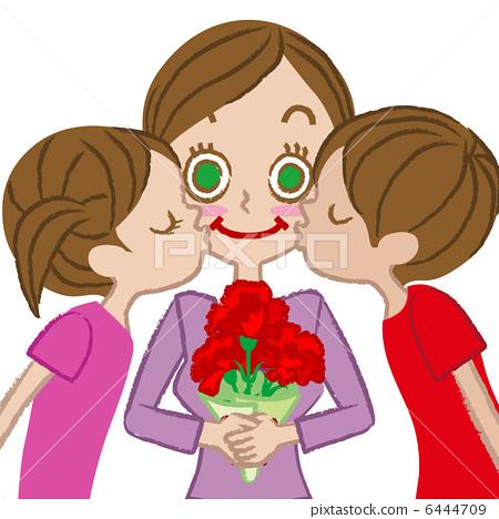 图库插图: 母子 母亲节 父母身份