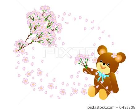 樱桃树 熊 樱花