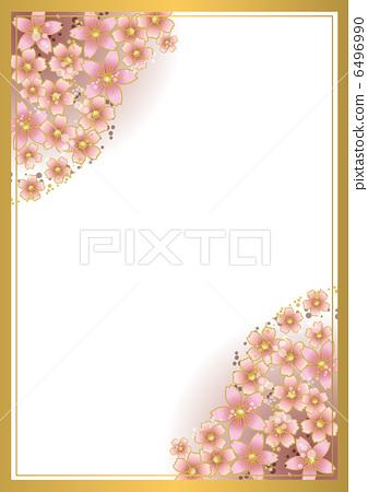 向量图 边框 樱桃树