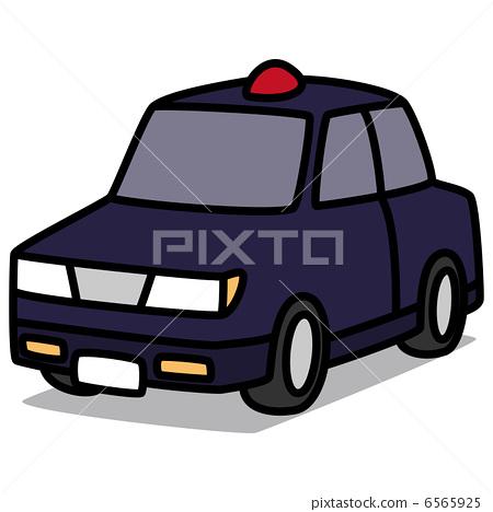 插图素材: 警车 巡逻车 卡通