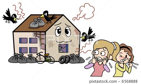 插图素材: 邻居麻烦·垃圾居住