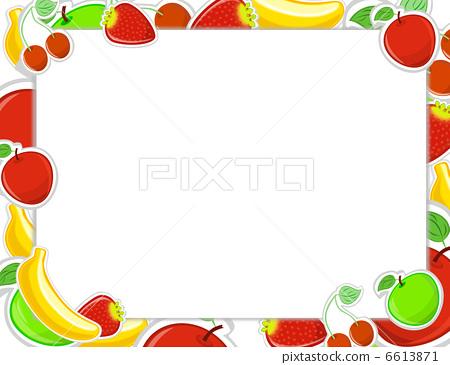 水果矢量图黑白