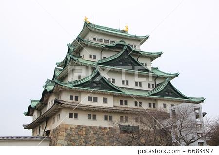 照片素材(图片): 名古屋城堡 城墙 城堡