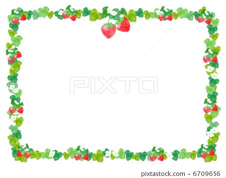 水果 边框 草莓