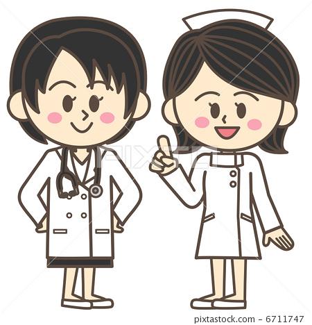 插图素材: 女大夫 女医生 护士