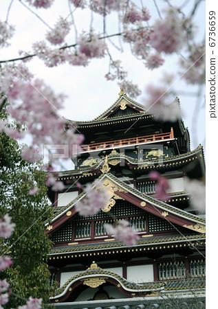 伏见桃山城 城堡塔楼 京都-图片素材 [6736659]