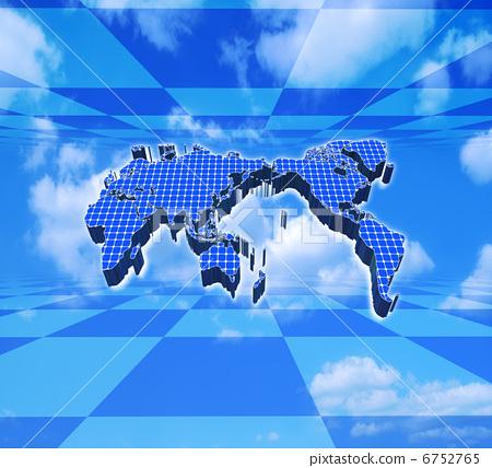 地图_标示 世界地图 世界地图 光伏 太阳能  *pixta限定素材仅在pixta