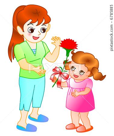 母亲节 展示 红色-图库插图 [6785885] - pixta
