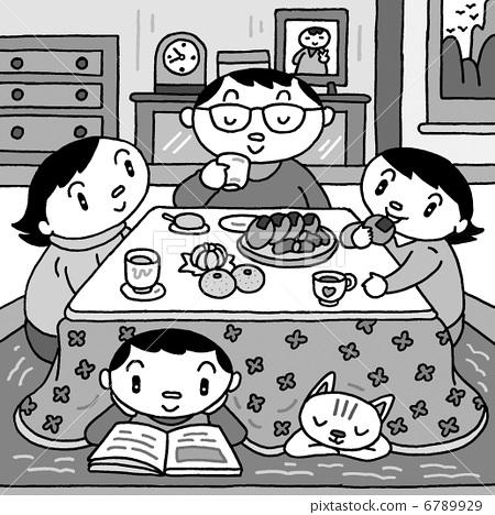 家庭 炬燵 家庭聚会