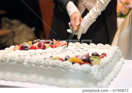 照片 活动_节日 生日 生日蛋糕 切蛋糕 蛋糕 婚礼  *pixta限定素材仅