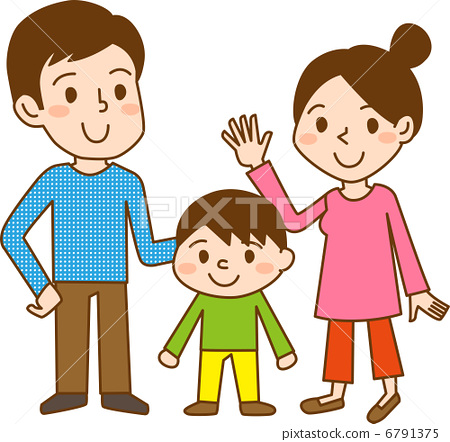 与孩子 父母和小孩