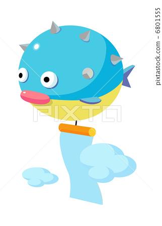 河豚鱼 鱼 stock 插图