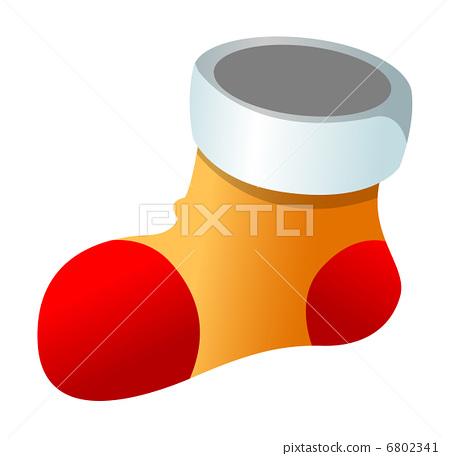 袜子 矢量图 stock 插图