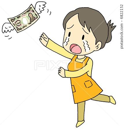 插图素材: 家庭预算 主妇 家庭主妇