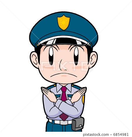 卡通保安敬礼头像