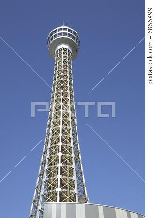 图库照片: 港口的了望塔 横滨海洋塔 了望塔
