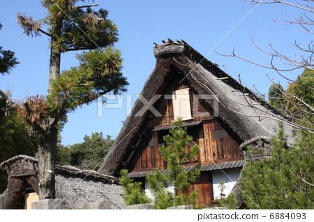 民居 稻草茅草屋顶 茅屋