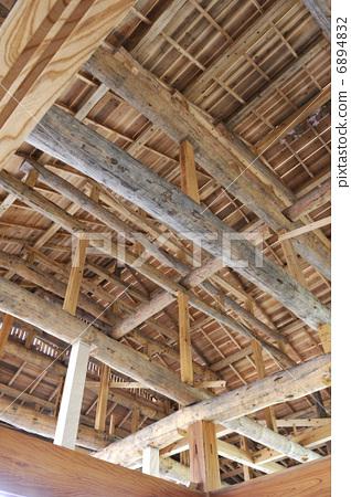 图库照片: 木屋 木制结构房屋 积木