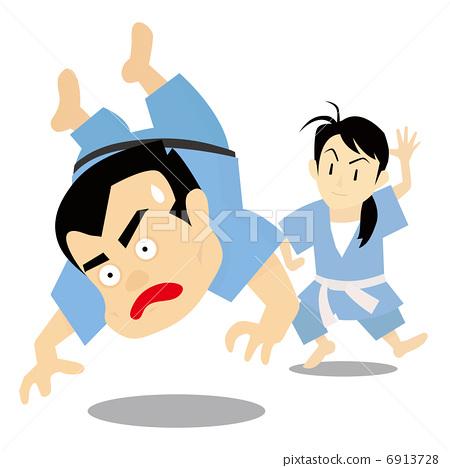 插图素材: 武术 柔道 活泼的