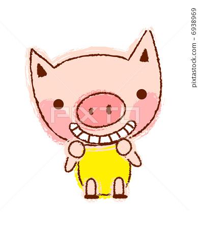 小猪 动物 stock 插图