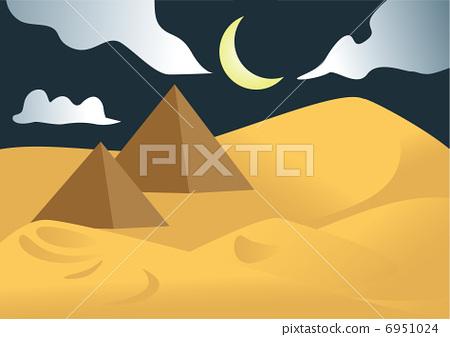 沙漠 金字塔 埃及