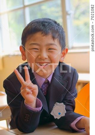 图库照片: 小学一年级学生 儿童 孩子