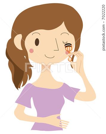 插图素材: 化妆品 化妆 睫毛夹