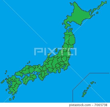 日本地图 点 地图