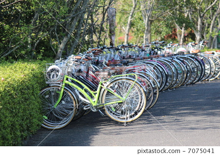 自行车停放 自行车 停车场
