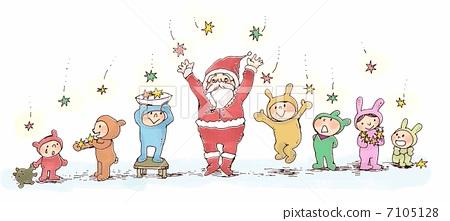 儿童 圣诞节 圣诞老人