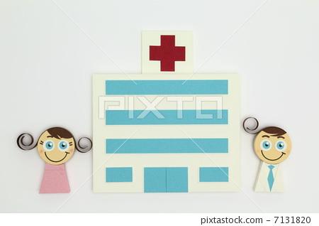 医疗边框矢量图