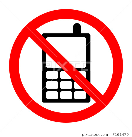 插图素材: no mobile phone sign