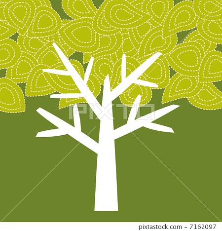 矢量图 树 树木