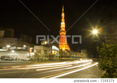 照片: 无线电塔 东京塔 天线杆