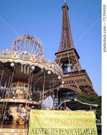 巴黎的 埃菲尔铁塔 法国