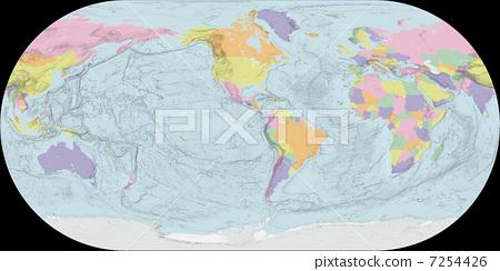 地图 世界地图 轮廓