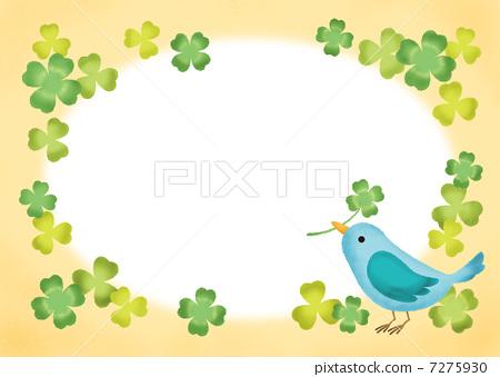 边框 首页 插图 动物_鸟儿 鸟儿 小鸟 框架 帧 边框  *pixta限定素材