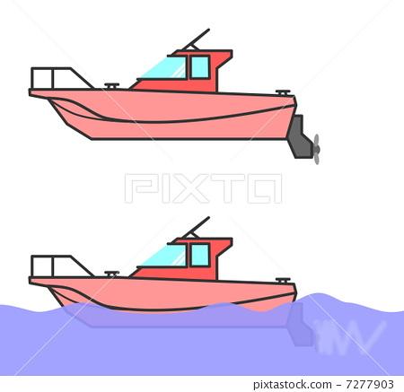 首页 插图 交通工具_交通 船_游艇 船 船 划船 汽船  *pixta限定素材